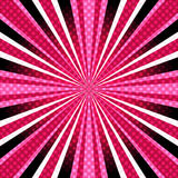 Rosa färg-lilor bakgrund med strålar Arkivbild