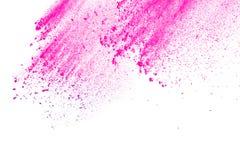 Rosa färg-lilor pudrar explosion Royaltyfria Bilder