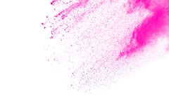 Rosa färg-lilor pudrar explosion Fotografering för Bildbyråer