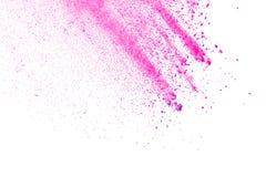 Rosa färg-lilor pudrar explosion Royaltyfria Foton
