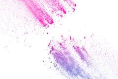 Rosa färg-lilor pudrar explosion Arkivbild