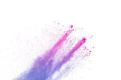 Rosa färg-lilor pudrar explosion Royaltyfri Foto