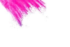 Rosa färg-lilor pudrar explosion Royaltyfri Fotografi