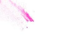 Rosa färg-lilor pudrar explosion Arkivbilder