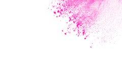 Rosa färg-lilor pudrar explosion Arkivfoton