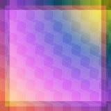 Rosa färg- och blåttkubabstraktion Arkivbild