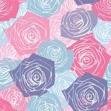 Rosa färg- och blåttrosmodell royaltyfri illustrationer