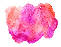 Rosa färg- och korallvattenfärg Royaltyfri Bild