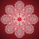 Rosa färg- och vitprydnadmodell royaltyfri illustrationer