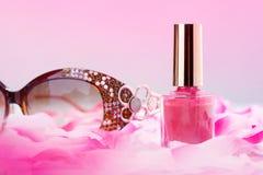 Rosa färg spikar polskt Fotografering för Bildbyråer