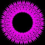 Rosa färgabstrakt begreppcirkel Arkivbild