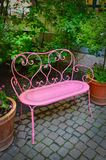 Rosa färgbänk Arkivfoto