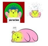 Rosa färgbjörn Arkivbilder