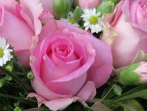 Rosa färgblommabukett Royaltyfri Bild