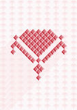 Rosa färgblommasymbol Arkivbilder