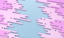 Rosa färgdroppar - illustration 3d Royaltyfri Foto