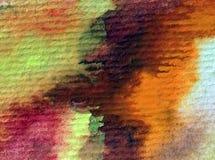 Rosa färgen för abstrakt begrepp för vattenfärgkonstbakgrund slår den röda violetta purpurfärgade texturerad suddig fantasi för v Royaltyfria Foton