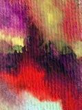 Rosa färgen för abstrakt begrepp för vattenfärgkonstbakgrund slår den röda violetta purpurfärgade texturerad suddig fantasi för v Royaltyfria Bilder