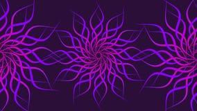 Rosa färgen & lilan som roterar den mönstrade färgrika spiralen, abstrakt begrepp vinkar bakgrund stock illustrationer
