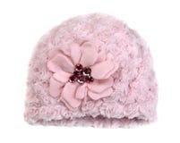 Rosa färger behandla som ett barn hatten med bergkristaller Royaltyfria Foton