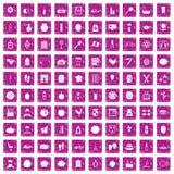 100 rosa färger för grunge för skönhetsproduktsymboler fastställda vektor illustrationer