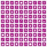 100 rosa färger för grunge för Sydamerika symboler fastställda vektor illustrationer