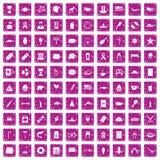 100 rosa färger för grunge för USA symboler fastställda Royaltyfria Bilder
