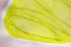 Rosa färger för gul gräsplan Arkivfoto