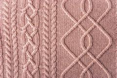 Rosa färger figurerade tröjabakgrund Royaltyfri Bild