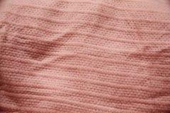 Rosa färger fodrad mönstrad torkduk Royaltyfri Fotografi