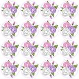 Rosa färger, Lavendar och rosa färger Rose Background Arkivbilder