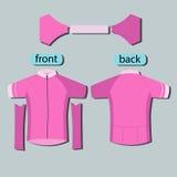 Rosa färger mönstrar att cykla ärmlös tröjamallen Arkivfoto