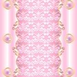 Rosa färger med pärlor Arkivfoton