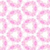 Rosa färger och geometrisk modellbakgrund för guld/för gulingkalejdoskop Royaltyfri Foto