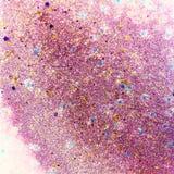 Rosa färger och lilor blänker abstrakt begrepp Arkivfoton