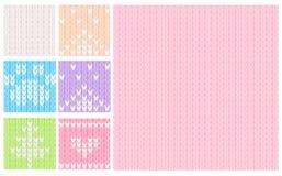 Rosa färger och pastell stucken sömlös modell Arkivbild