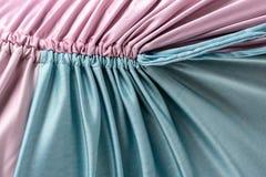 Rosa färger och sydd ryschig torkduk för turkos färg royaltyfri bild