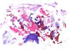 Rosa färger och Violet Paint Arkivfoto