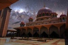 Rosa färger stonned moské Fotografering för Bildbyråer