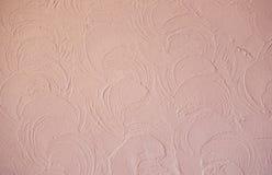 Rosa färger texturerade murbruk med den abstrakta modellen Fotografering för Bildbyråer