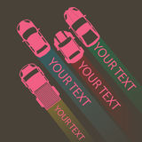 Rosa färgfärgbil för din text Arkivfoton