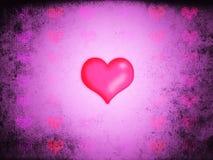 Rosa färgförälskelsehjärtor Stock Illustrationer
