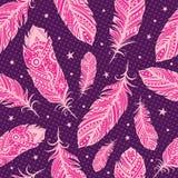Rosa färgfjädern mönstrar Arkivbild