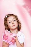 Rosa färggåva boxas Royaltyfria Bilder