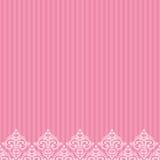 Rosa färggräns i damast barock stil Arkivfoton