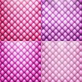 Rosa färglädermöblemang med knappar Arkivfoto