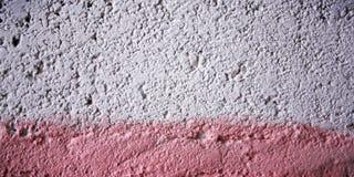 Rosa färgmålarfärg på konkret yttersida vektor för ramillustrationtext Royaltyfri Bild