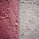 Rosa färgmålarfärg på konkret yttersida vektor för ramillustrationtext Arkivfoton
