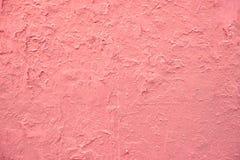 Rosa färgmålarfärgvägg Arkivbilder