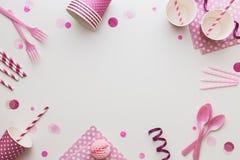 Rosa färgpartibakgrund arkivfoton